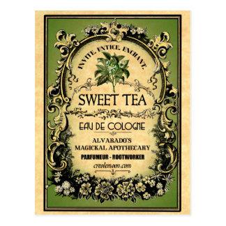 Sweet Tea Eau de Cologne Vintage Label Postcard