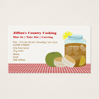 Sweet Tea, Green Tomato, Biscuits Restaurant Business Card