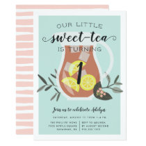 Sweet Tea | Kids Birthday Party Invitation