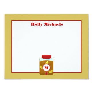 Sweet Tea With Lemon Personalized Flat Notecards
