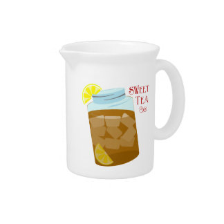 Sweet Tea With Lemon Pitcher