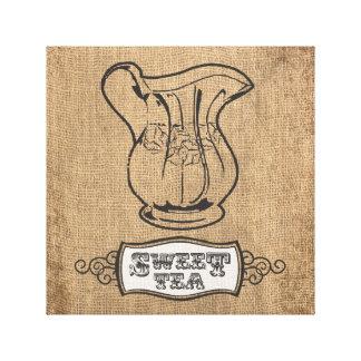 Sweet Tea Wrapped Canvas Print