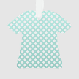 Sweet Teal and White Polka Dot Pattern Ornament