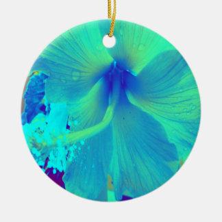 Sweet Teal Ceramic Ornament