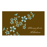 Sweet Teal Cherry Blossom Wedding Website Cards Business Card Templates