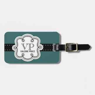 Sweet Teal Green Personalized Girly Girl Tag Tag For Luggage