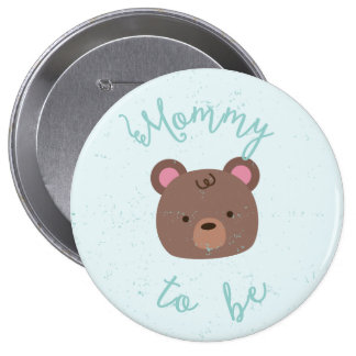 Sweet Teddy Baby Shower Mommy to Be Button