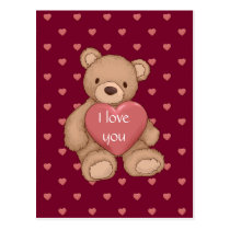 sweet teddybear postcard