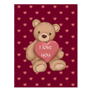 sweet teddybear postcard