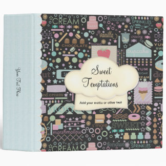 Sweet Temptations Bakery Boutique Black Binder