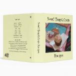 Sweet Temptations Recipes 3 Ring Binder