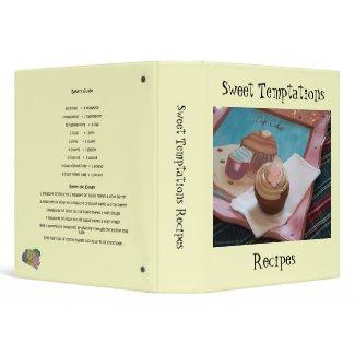 Sweet Temptations Recipes binder