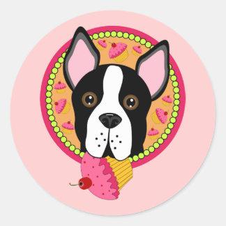 Sweet Terrier Classic Round Sticker