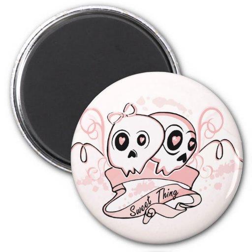 Sweet Thing Pastel Skull Magnet