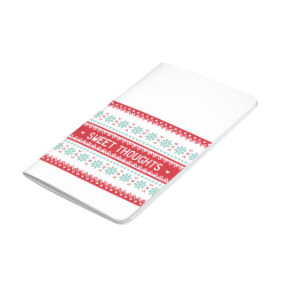 Sweet Thoughts   Nordic Pattern blank journal