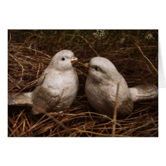 Sweet Thoughts of You, two birds in a nest, love Card
