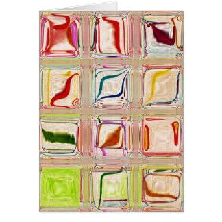 Sweet Tile glass mosaic customizabl blank notecard