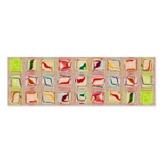 Sweet Tiles Template Custom Gift Tag Mini Business Card