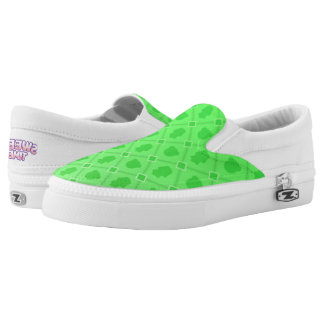 Sweet Time green Slip Ons