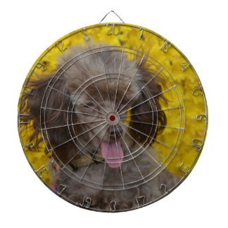 Sweet Tiny Brown Poodle Dart Board