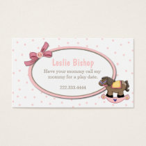 Sweet Toddler Girl Play Date Card