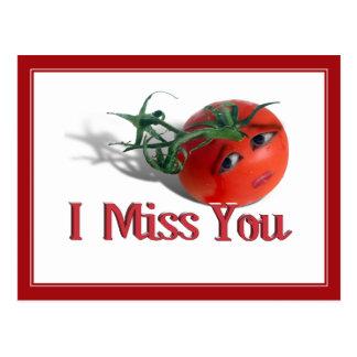 "Sweet Tomato ""I Miss You"" Postcard"