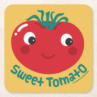 Sweet Tomato Square Paper Coaster