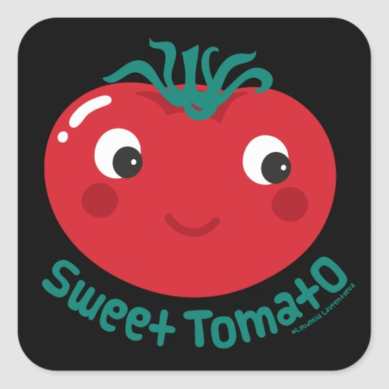 Sweet Tomato Square Sticker