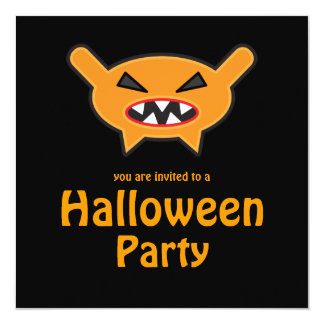 """Sweet Tooth 4 Weirdo Bunch Halloween Party Invite 5.25"""" Square Invitation Card"""
