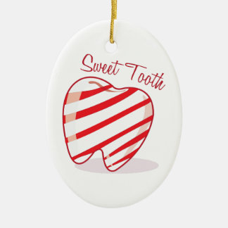 Sweet Tooth Ceramic Ornament