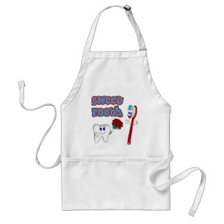 Sweet Tooth Cute Cartoon T-shirts For Women Adult Apron