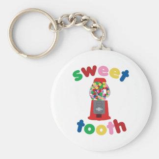 Sweet Tooth Basic Round Button Keychain