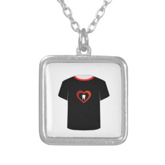 Sweet tooth silver plated necklace