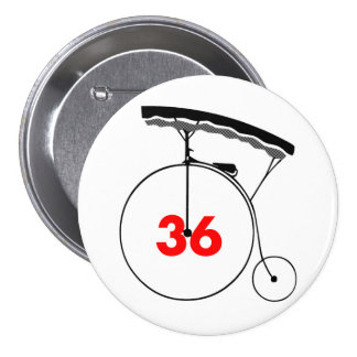 Sweet-toothed 36 pinback button