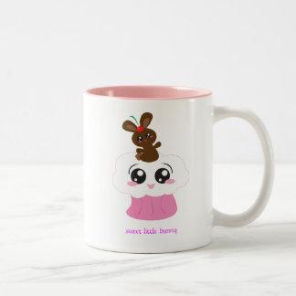 Sweet Treat Bunny Two-Tone Coffee Mug