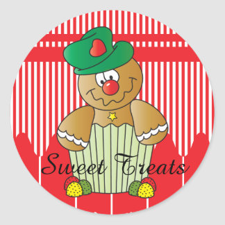 Sweet Treat Gingerbread | Christmas Classic Round Sticker