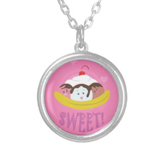Sweet Treats - Banana Split! Silver Plated Necklace
