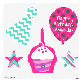 Sweet treats birthday party wall decals