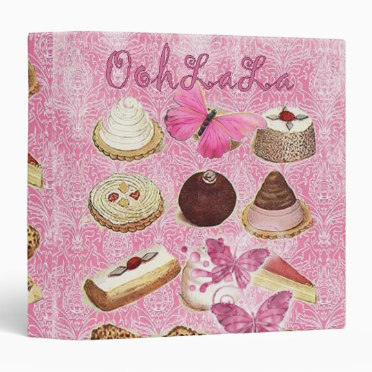 Sweet Treats Catering Paris french pastry 3 Ring Binder