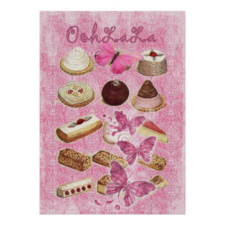 Sweet Treats Catering Paris french pastry Poster