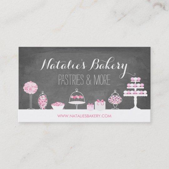sweet treats chalkboard bakery business card - Bakery Business Cards