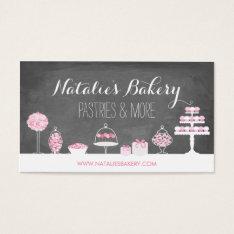 Sweet Treats Chalkboard Bakery Business Card at Zazzle