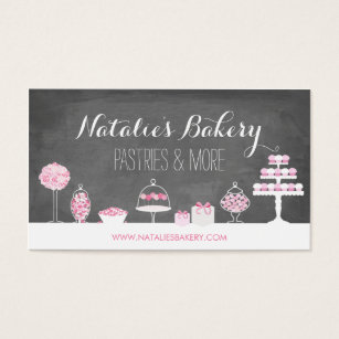 Cupcake business cards 3900 cupcake business card templates sweet treats chalkboard bakery business card cheaphphosting Image collections