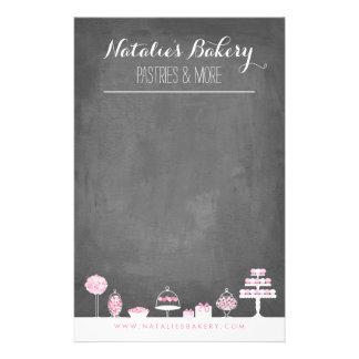 Sweet Treats Chalkboard Bakery Business Flyer