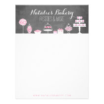 Sweet Treats Chalkboard Bakery Business Letterhead