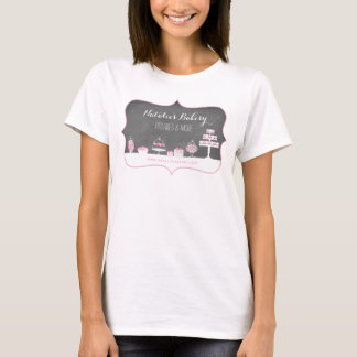 Sweet Treats Chalkboard Bakery Business T-Shirt