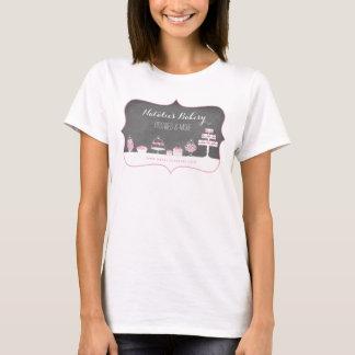Sweet Treats Chalkboard Bakery Business T-Shirt