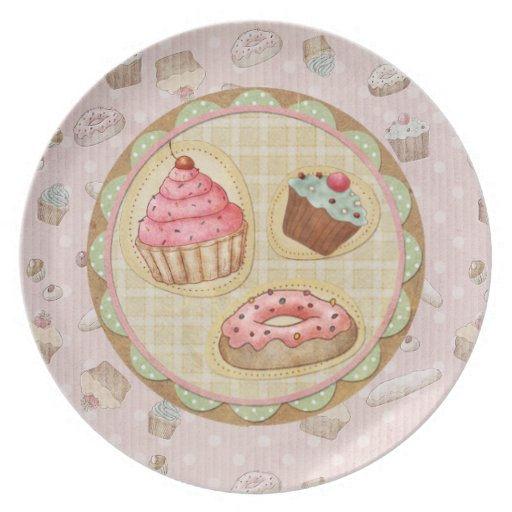 Sweet Treats Cupcake 2 Party Plates