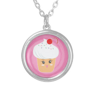 Sweet Treats - Cupcakes! Silver Plated Necklace
