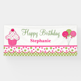 Sweet Treats Custom Birthday Banner